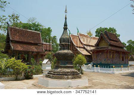 Luang Prabang, Laos - April 14, 2012: Xieng Thong Temple In Luang Prabang, Laos. Wat Xieng Thong Was