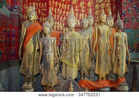 Luang Prabang, Laos - April 16, 2012: Buddha Images In Wat Xieng Thong Or Temple Of The Golden City
