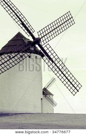 Old Spanish Windmills, Toned Image