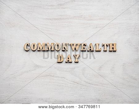 Commonwealth Day. Beautiful, Bright Card. Isolated Background