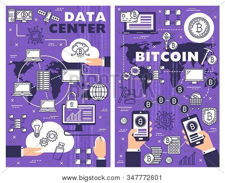 Data Center And Bitcoin Vector Design Of Cryptocurrency And Cloud Database Technologies. Computers,