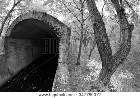 Old tunnel of Stalin. Part of Kiev defense line in WW2 time