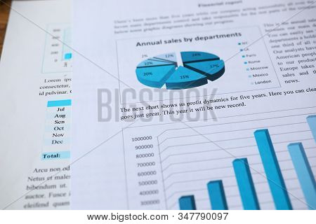 Filling Out Annual Sales Report By Department. Sales Tool For Managing Leads And Closing Deals. Calc