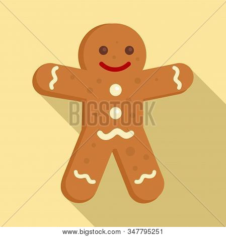 Gingerbread Man Icon. Flat Illustration Of Gingerbread Man Vector Icon For Web Design