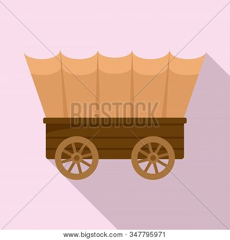 Western Carriage Icon. Flat Illustration Of Western Carriage Vector Icon For Web Design