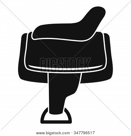 Horse Saddle Icon. Simple Illustration Of Horse Saddle Vector Icon For Web Design Isolated On White
