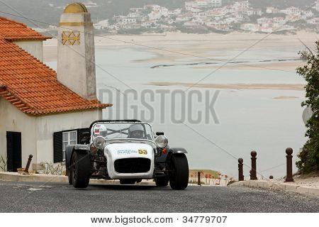 Foz Do Arelho, Portugal - May 13: Bruno Coutinho Drives A Catheram Seven During Rally Sprint Foz Do