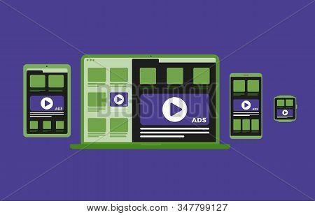 Digital Marketing Content In Multiple Device And Platform - Native Programmatic Advertising Cross Ta