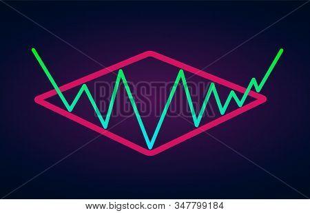 Diamond Pattern - Bullish Formation Continuation Figure, Chart Technical Analysis. Vector Stock, Cry