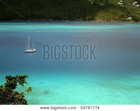 Sailing in Magens Bay