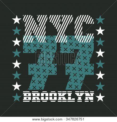 New York Typography, T-shirt Ny, Design Graphic, Printing Man Nyc