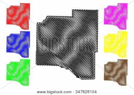 Grant County, Arkansas (u.s. County, United States Of America,usa, U.s., Us) Map Vector Illustration