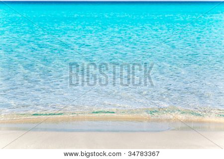Formentera Llevant tanga beach with perfect turquoise water