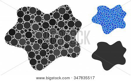 Dirt Spot Composition Of Filled Circles In Different Sizes And Color Tints, Based On Dirt Spot Icon.