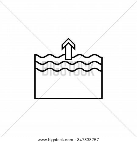 Forecast, High, Tide Line Icon On White Background