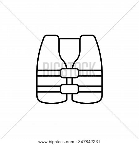 Jacket, Vest, Life Jacket, Life, Security Line Icon On White Background