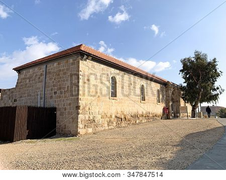 Good Samaritans Inn, Israel - January 11, 2020: Museum Of Ancient Mosaics From Different Places Of I