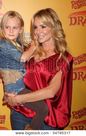 LOS ANGELES - JUL 12:  Taylor Armstrong and her daughter arrives at 'Dragons' presented by Ringling Bros. & Barnum & Bailey Circus at Staples Center on July 12, 2012 in Los Angeles, CA