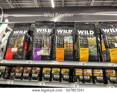 Orlando, Fl/usa-1/29/20: A Display Of Wild Frontier  Dog Food At A Petsmart Superstore Ready For Pet