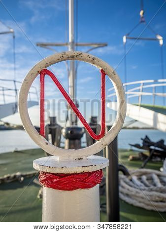 New Orleans, Usa - Dec 11, 2017: Onboard The Historic Steamboat Natchez. Two Defocussed Boarding And