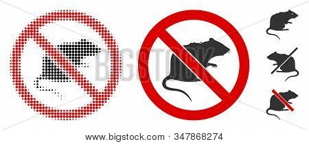 No Rats Halftone Vector Icon And Solid Version. Illustration Style Is Dotted Iconic No Rats Icon Sym