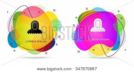 Color Medieval Hood Icon Isolated On White Background. Hooded Sweatshirt. Abstract Banner With Liqui