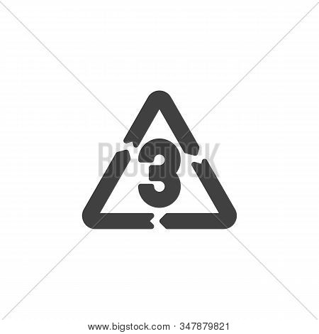 V 3, Industrial Marking Plastic Vector Icon. Filled Flat Sign For Mobile Concept And Web Design. Pol