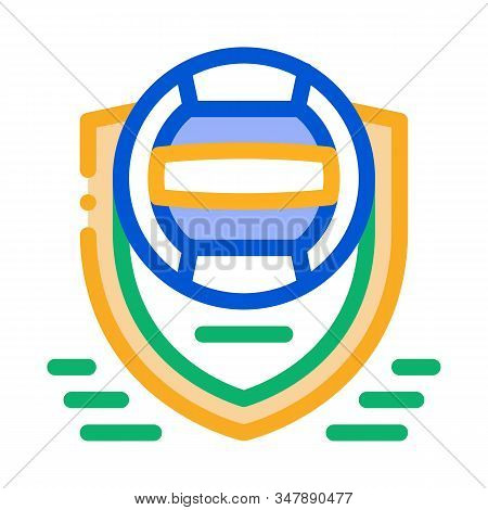 Volleyball Team Emblem Icon Vector. Outline Volleyball Team Emblem Sign. Isolated Contour Symbol Ill