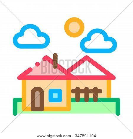 Urban Residential Landscape Icon Vector. Outline Urban Residential Landscape Sign. Isolated Contour