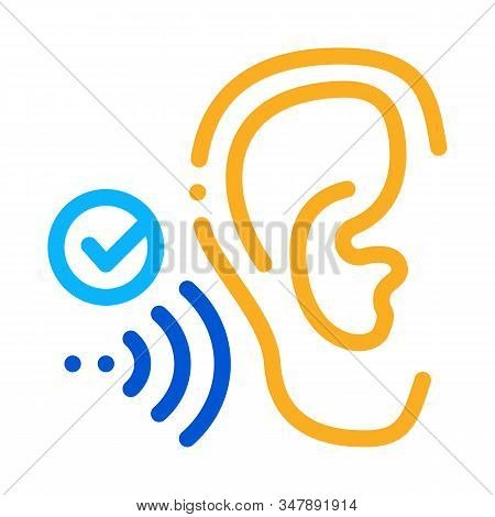 Good Hearing Perception Icon Vector. Outline Good Hearing Perception Sign. Isolated Contour Symbol I