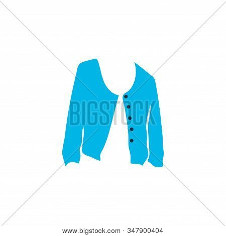 Short Cardigan Icon Colored Symbol. Premium Quality Isolated Jacket Element In Trendy Style.