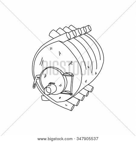 Banner Calorifer Stove, Solid Fuel Furnace, Sketch. Boiler Equipment Convection Long-burning Heating