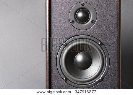 Audio Speakers. Musical Equipment. Close Up. Selective Focus