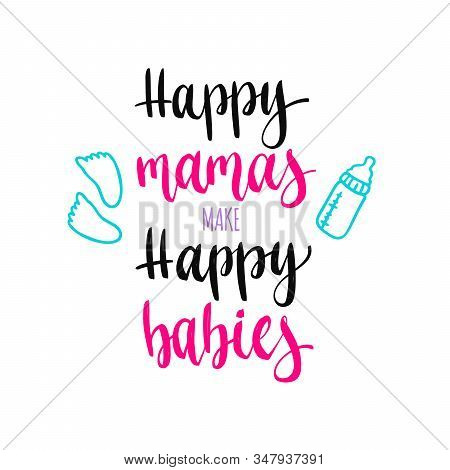Pregnancy Handwritten Calligraphy Vector Phrase. Maternity Quote Lettering.