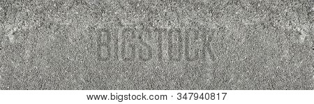 Old Rocky Concrete Wall Wide Texture. Rough Gray Cement Surface Widescreen Backdrop. Large Abstract