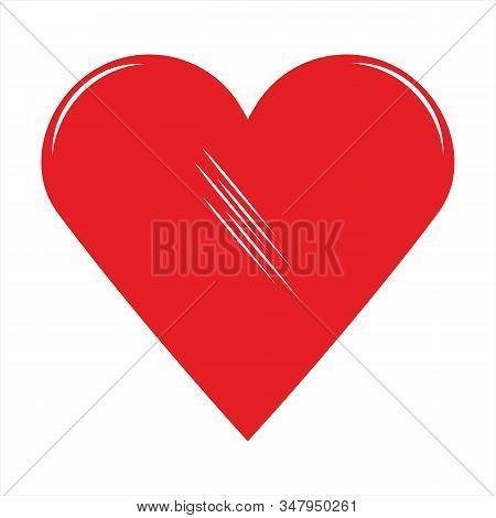 Ikon Hati, Ikon Sederhana. Ikon Gambar Hati. Ikon Cinta. Ikon Dengan Latar Belakang Putih. Ikon Data