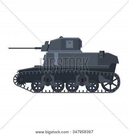 Tank American World War 2 M3 Stuart Light Tank. Military Army Machine War, Weapon, Battle Symbol Sil