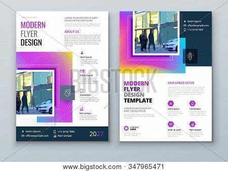 Flyer Design. Modern Flyer Concept With Square Rhombus Shapes. Vector Background. Set - Gb075