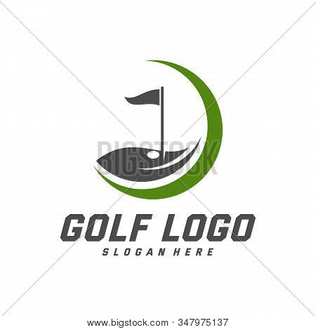 Golf Logo Design Vector Template, Vector Label Of Golf, Logo Of Golf Championship, Illustration, Cre