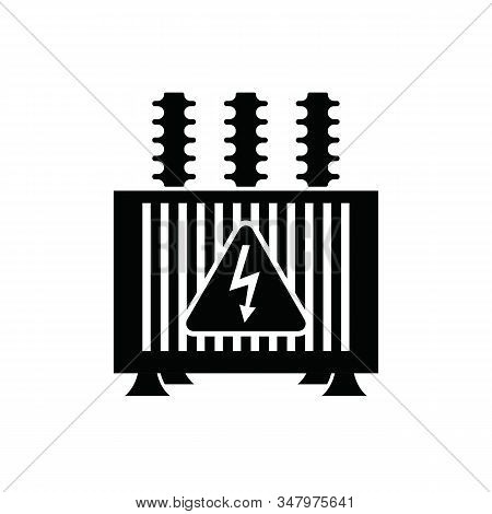 Electric Transformer Icon On White - Vector Illustration.