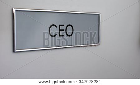 Chief Executive Officer Door, Company Management, Strong Leadership, Boss