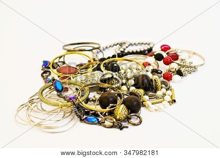 A collection of different jewellery