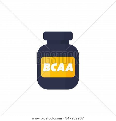 Bcaa, Amino Vector Icon On White, Eps 10 File, Easy To Edit