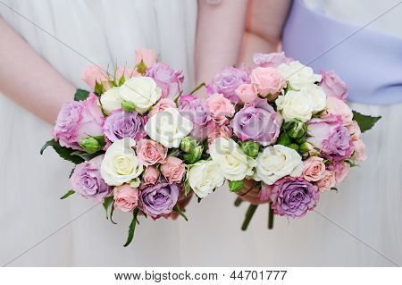 Bridesmaids Flowers Closeup
