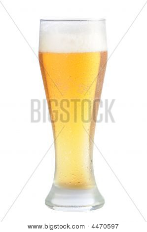 Cold Beer Glass With Path