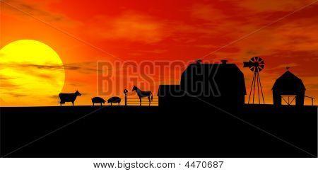 Farm_silhouette