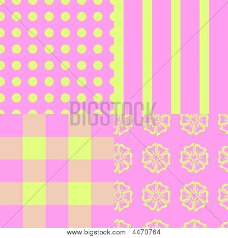 Pink And Green Patterns