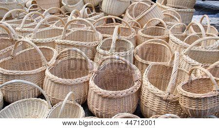 Wicker Handmade Wooden Diy Basket  Street Market