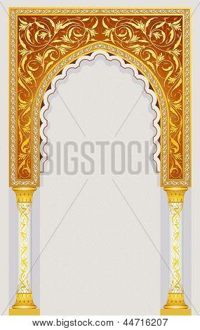 High detailed islamic art arch