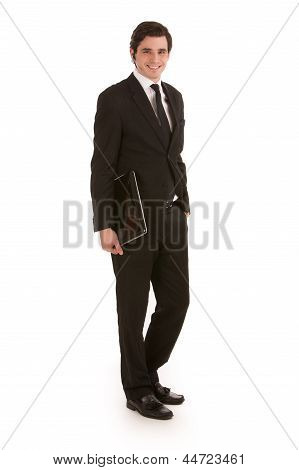 Smart Young Businessman In A Suit